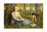 A Shepherdess and Her Flock  1878-9