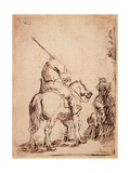 The Turbaned Soldier on Horseback  1632