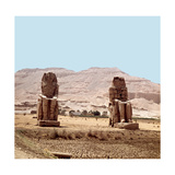 View of the Colossi of Memnon