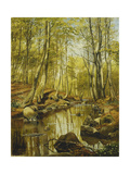 A Wooded River Landscape  1892