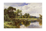 A Wooded River Landscape with Cattle
