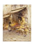 A Fruit Stall at the Base of the Campanile  San Giovanni Elemosinario  Near the Rialto  Venice