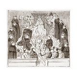 Henry V and His Parliament (From the Harleian Mms at the British Museum)  Illustration from 'The…