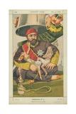 Abdul-Aziz  Sultan of Turkey  Ote-Toi De La Que Je M' Y Mette  30 October 1869  Vanity Fair Cartoon
