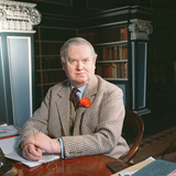 Evelyn Waugh in His Study  1963