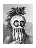 A Man of the Sandwich Islands in a Mask  Illustration from 'A Voyage to the Pacific'  Engraved by…
