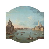 View of San Giorgio Maggiore  Venice  with the Punta Della Dogana in the Foreground