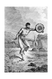 A Man of the Sandwich Islands Dancing  Engraved by Myers  C1785