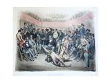 Les Lutteurs  Les Différents Publics De Paris  Pl12  1854
