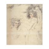 Portrait of Georgiana  Duchess of Devonshire and Lady Elizabeth Foster