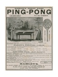 Advertisement for Ping Pong