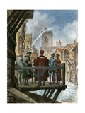 Peter Morris' Waterworks on Old London Bridge Being Admired by the Lord Mayor and Aldermen of the…