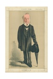 The Right Hon Spencer Horatio Walpole  He Defended Hyde Park  10 February 1872  Vanity Fair Cartoon