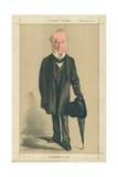 The Right Hon Spencer Horatio Walpole  He Defended Hyde Park  10 February 1872  Vanity Fair Cartoon