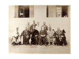 Sir George Denton and King of Abeokuta and Suite  Lagos  Nigeria  1889-90