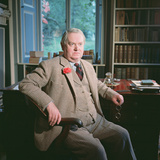 Evelyn Waugh  in His Study at Combe Florey  1963