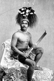 Talolo  Wearing the Ceremonial Dress of a Manaia  C1895