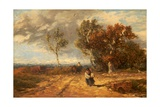 A Road by a Common: Windy Day  C1840-59