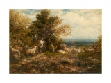 Sheep at Rest; Minding the Flock  C1840-80