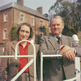 Evelyn Waugh with His Wife  1959