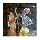 A Detail of a Wall Hanging  with a Scene from the Legend of Krishna