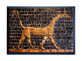 A Polychrome Glazed Brick from the Gates of Ishtar at Babylon Which Were Constructed During the…