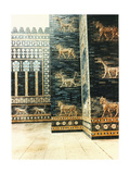 A Reconstruction of the Ishtar Gate Which Was Decorated with Polychrome Glazed Bricks and Was…