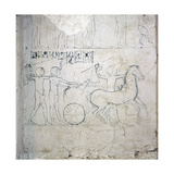 A Preparatory Drawing for a Tomb Relief Depicting a Horse and Chariot