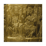 A Detail of the Gilt Shrine of Tutankhamun Which Originally Contained Statuettes of the Royal…