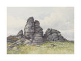 Vixen Tor  Near Merivale Bridge  Dartmoor   C1895-96