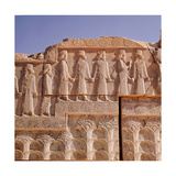 A Detail of a Relief Carving on the Staircase Leading to the Tripylon at Persepolis  Depicting…