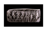 Modern Impression of an Early Dynastic Sumerian Alabaster Cylinder Seal