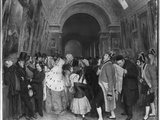 Four O'Clock  known also as Closing of the Annual Salon of Painting Partly Installed Then in the…