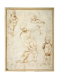 Studies for the 'Madonna of the Meadow'  C1505