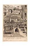 Animal Baiting at the Venetian 'Festival of the Hunt'  Illustration from the Series 'Habiti…