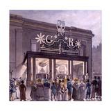 Outside the Theatre Royal  Drury Lane  1821