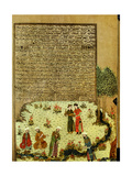The Introductory Miniature to Ferdausi's 'Book of Kings' (Shah-Nameh) Showing the Unknown Poet…