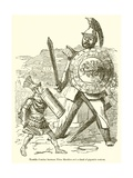 Terrific Combat Between Titus Manlius and a Gaul of Gigantic Stature