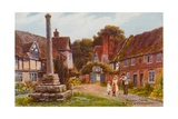 Village Cross  Ripple Near Tewkesbury