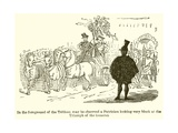 In the Foreground of the Tableau May Be Observed a Patrician Looking Very Black at the Triumph of…