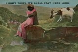 Lovers on Cliff: I Don't Think We Shall Stay Here Long