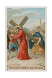 Simon of Cyrene Helps Jesus to Carry the Cross the Fifth Station of the Cross