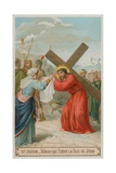 Veronica Wipes the Face of Jesus the Sixth Station of the Cross