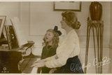 Gladys Cooper and Girl at Piano