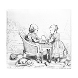 Albert  Prince of Wales and Victoria  the Princess Royal  Engraved by Prince Albert  C1843