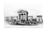 The Grand Entrance of the Metropolitan Station of the North Western Railway  Engraved by Alfred…
