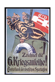 Subscribe to the Sixth War Loan'  Wwi German Poster  1914-18
