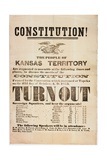 Constitution! the People of the Kansas Territory are Requested to Assemble  Printed by E C…