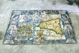 Antique Tile Map of Sicily