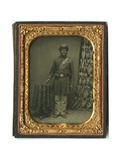 Portrait of Black Soldier Private Co I  54th Mass Infantry  C1863